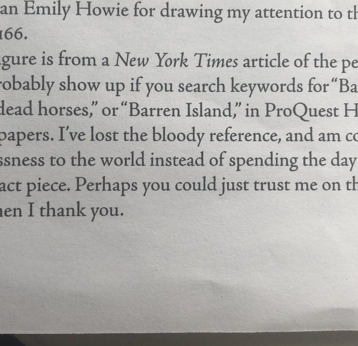 The Best Footnote