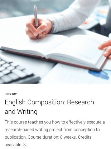 ENG 102- English Composition: Research and Writing