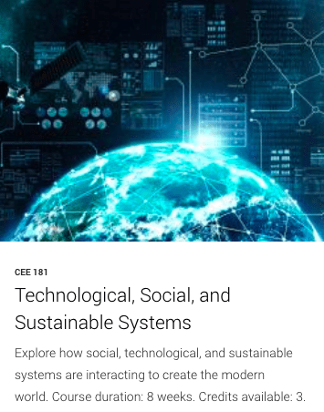 CEE 181- Technological, Social, and Sustainable Systems