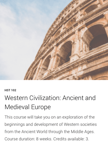 HST 102- Western Civilization: Ancient and Medieval Europe